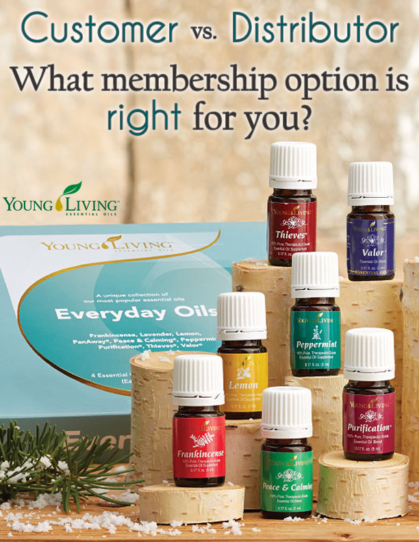 What Young Living membership option is right for you? — Imagine using and sharing a product you adore. If you are interested in essential oils, we can help you decide what type of membership will work for you. Spoiler alert: There are no fees!
