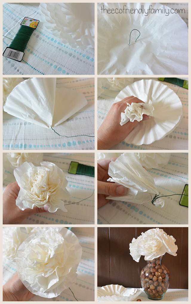 Coffee Filter Flowers How To