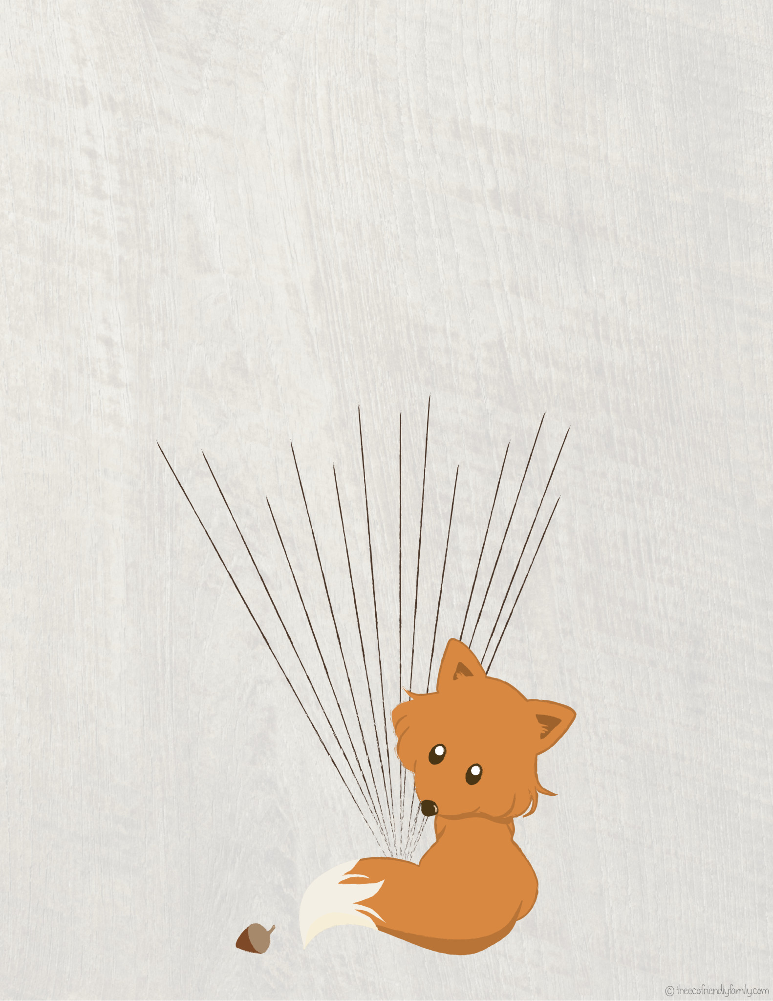 Fox Guestbook  Free Printable    The Eco Friendly Family