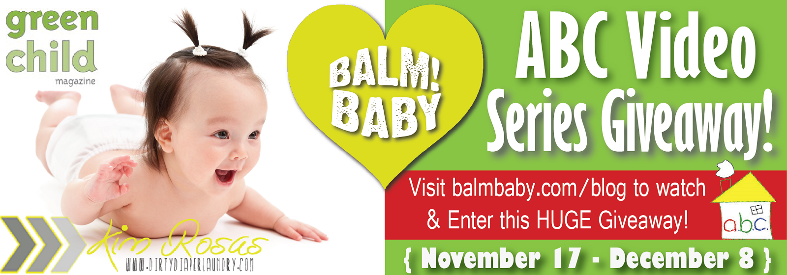 BALM Baby ABC Video Giveaway!  Watch and Win!