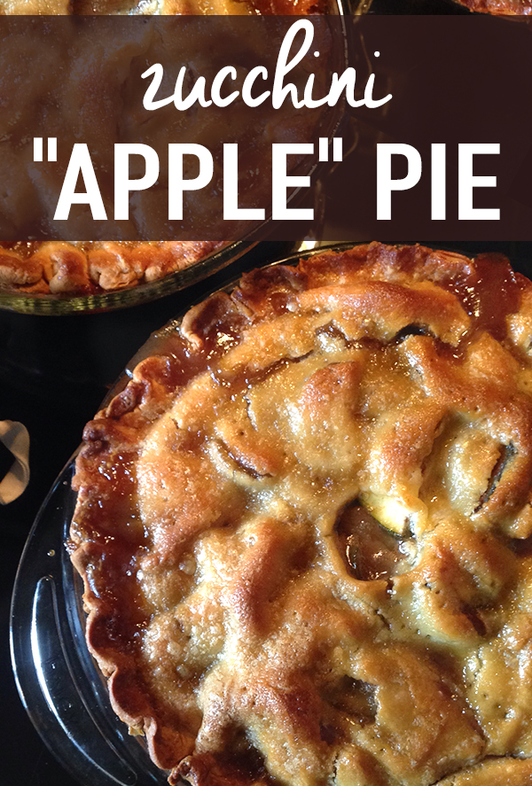 Zucchini Apple Pie Recipe — I can't believe how much this tastes like the real thing! Turn piles of zucchinis into delicious pies with a bit less guilt than the original.