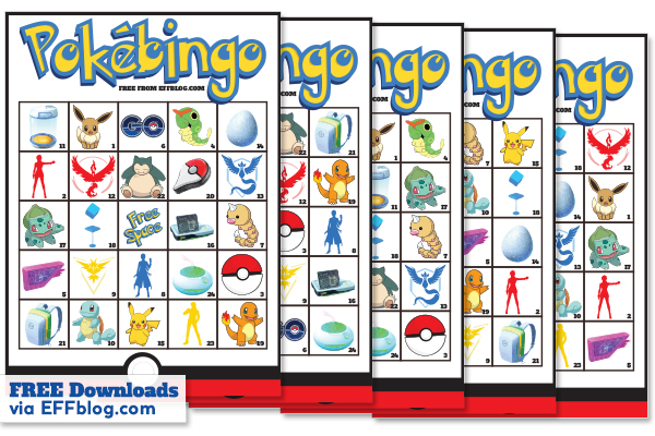 pokbingo pokmon go bingo game - Free Printable Pokemon Pictures