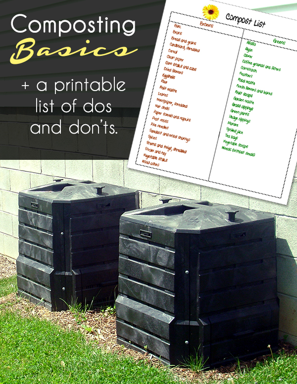 image regarding Printable Compost List titled Composting is enjoyment! - The Eco-Welcoming Relatives