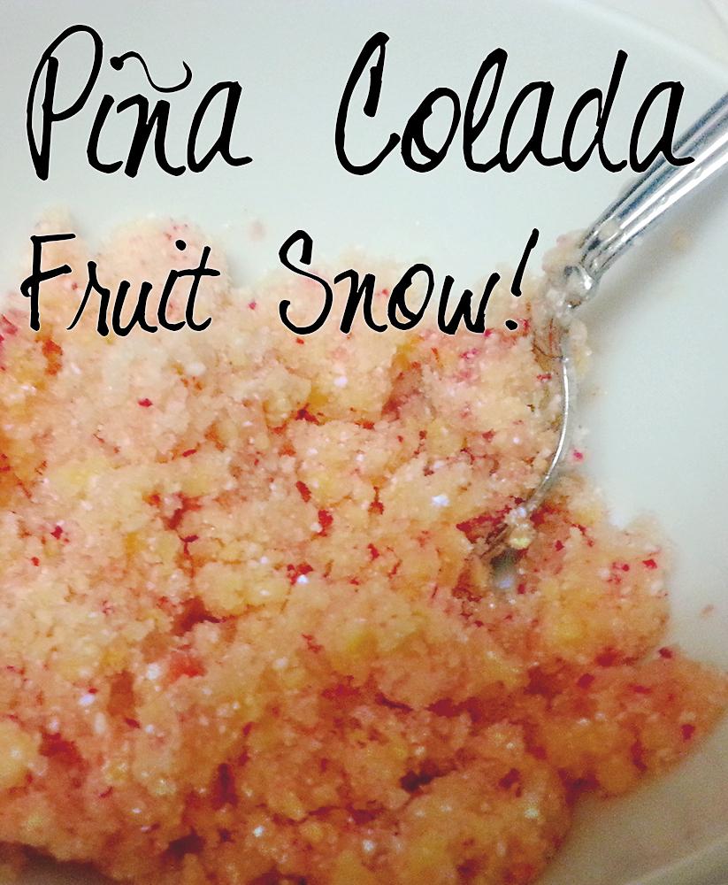 fruit snow