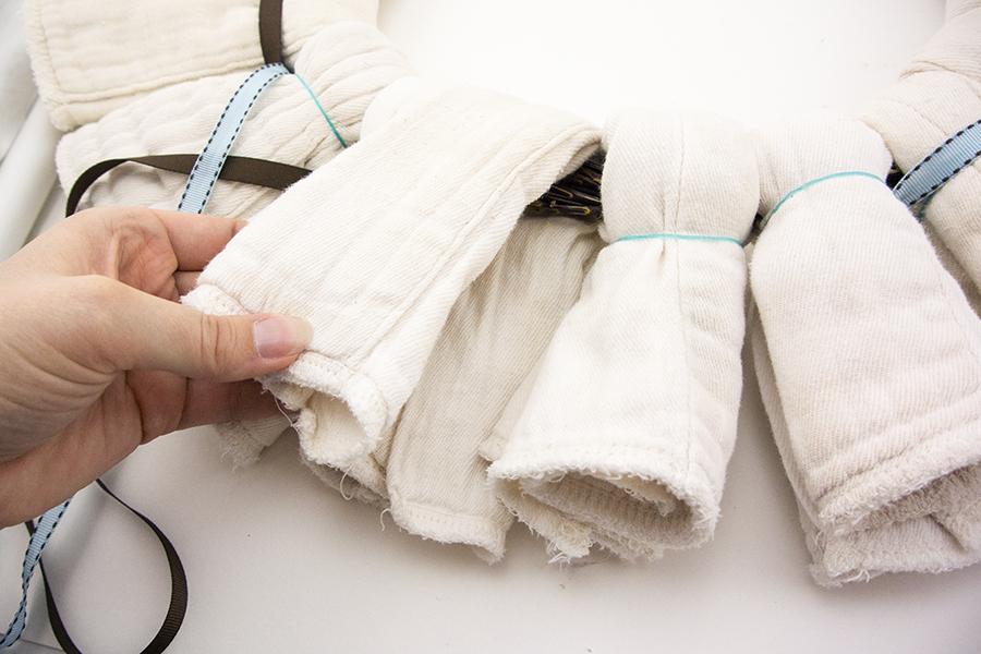 Cloth Diaper Wreath Step 3