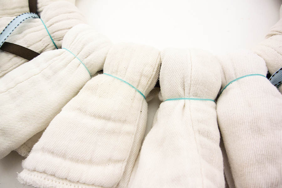 Cloth Diaper Wreath Step 4