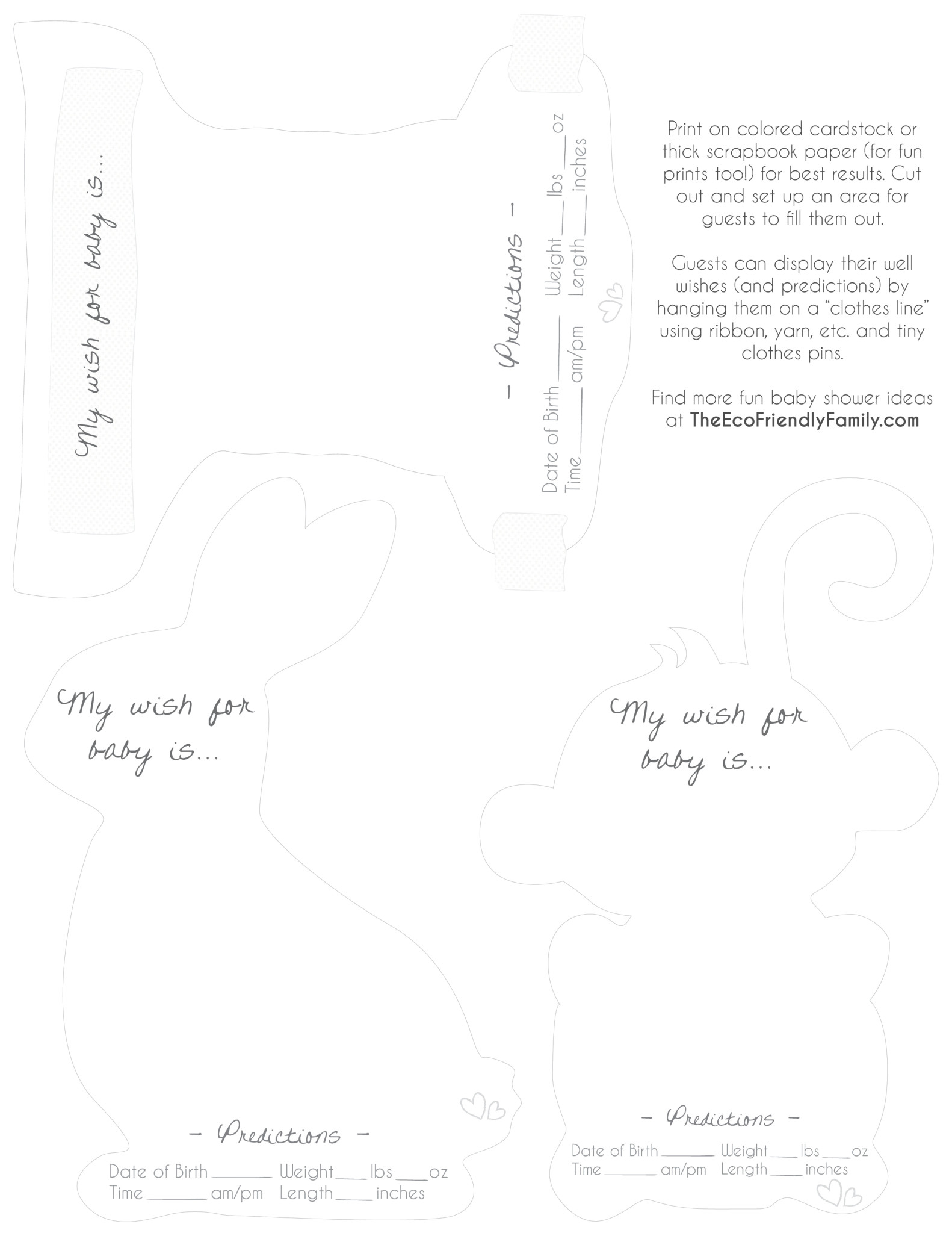 Well Wishes & Predictions for Baby { Free Printable } - The Eco ...