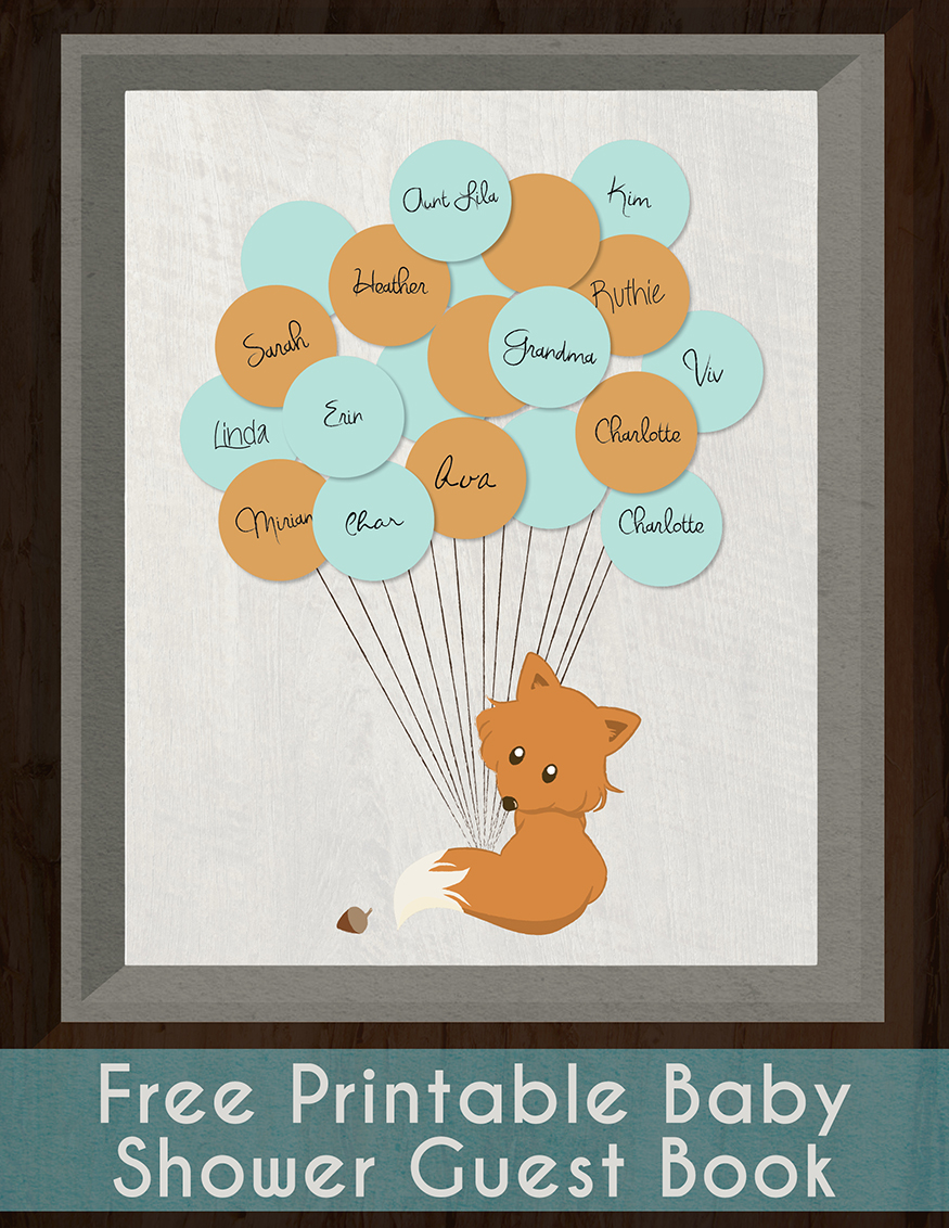 Printable Baby Shower Guest Book  Printable Baby Shower Guest List