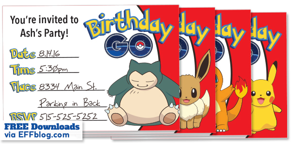 photo about Free Printable Pokemon Invitations called Pokémon Shift: Birthday Move Cost-free Printable Invites
